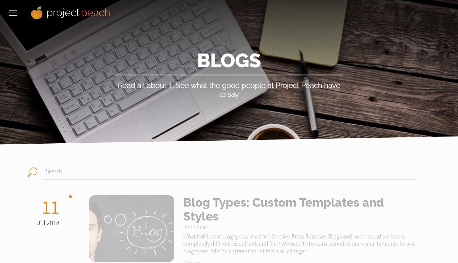 Blog Types: Custom Templates and Styles